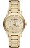 Burberry Goldtone Stainless Steel Chronograph Watch - Lyst