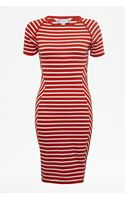 French connection County Cotton Striped Dress - Lyst