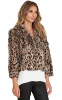 Anna Sui Rabbit Fur Jacket - Lyst