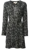 Michael Kors Laceup Neck Printed Dress - Lyst