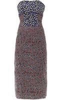 Emilio De La Morena Multi Dotprint Silk Dress - Lyst