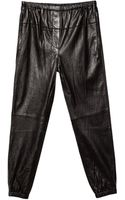 3.1 Phillip Lim Leather Elastic Sweatpants - Lyst