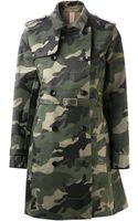 Valentino Camouflage Trench Coat - Lyst