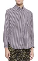 Etoile Isabel Marant Womens Will Striped Buttondown Shirt - Lyst