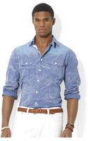 Polo Ralph Lauren Polo Mapprint Workshirt - Lyst