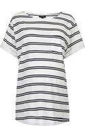 Topshop Maternity Double Stripe Pocket Tee - Lyst