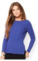 Lauren Jeans Co. Lauren Jeans Co Cableknit Sweater - Lyst