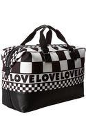 Love Moschino Checker Print Weekender - Lyst