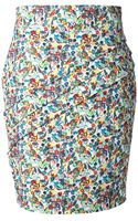 Versace Liberty Flower Printed Skirt - Lyst