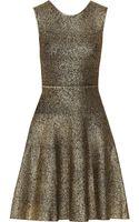 Issa Metallicprint Stretchknit Dress - Lyst