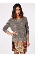 Missguided Dayo Fluffy Chain Neck Detail Jumper - Lyst