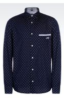 Armani Jeans Cotton Shirt with Logo Pattern - Lyst