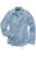 C. Wonder Boy Fit Printed Cotton Voile Shirt - Lyst