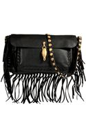 Valentino Leather Fringe Shoulder Bag - Lyst
