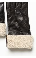 Carolina Amato Shearling Cuff Leather Glove - Lyst