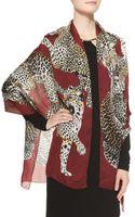 Roberto Cavalli Leopard Printed Silk Wrap - Lyst
