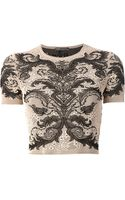 Alexander McQueen Lace Embroidered Top - Lyst