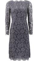 Valentino Lace Portrait Dress - Lyst