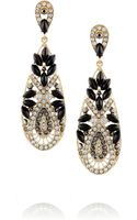 Kenneth Jay Lane Goldplated Crystal and Resin Earrings - Lyst