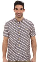 Tommy Bahama Island Modern Fit March Of The Flamingos Ss Camp Shirt - Lyst