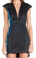 Mason by Michelle Mason Plunge Neck Mini Dress - Lyst