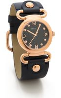 Marc By Marc Jacobs Molly Watch Rose Goldnavy - Lyst