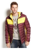 Armani Jeans Reversible Colorblocked Puffy Jacket - Lyst