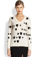 Moschino Cheap & Chic Cashmere Heart Sweater - Lyst
