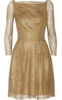Issa Metallic-lace and Crepe Dress - Lyst