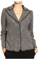 Giorgio Armani Jackets Chevron with Embrodery and Strass - Lyst