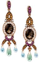 Le Vian 14k Rose Gold Smokey Quartz and Multistone Oval Drop Earrings 734 Ct Tw - Lyst