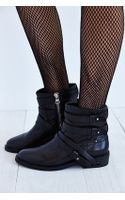 Dolce Vita Kiera Belted Moto Leather Ankle Boot - Lyst