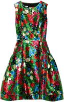 Oscar De La Renta For The Outnet Printed Silk-mikado Dress - Lyst