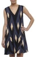 Marc By Marc Jacobs Silk Diamond Flame Party Dress - Lyst