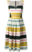Antonio Marras Pleated Stripe Dress - Lyst