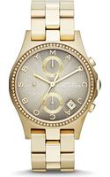 Marc By Marc Jacobs Goldtoned Watch Grey - Lyst