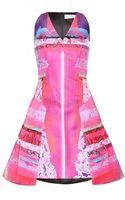 Peter Pilotto Angle Printed Satin Dress - Lyst