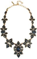 Oscar de la Renta Floral Goldplated Crystal Necklace - Lyst