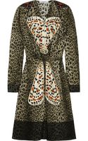 Givenchy Leopard Print Silk Dress with Butterfly Appliqué - Lyst