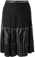 Balenciaga Pleated Studded Skirt - Lyst