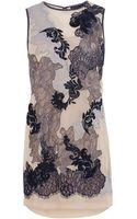 Karen Millen Lace Embroidery Dress - Lyst