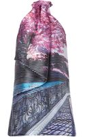 Mary Katrantzou Silk Winding Road Print Mini Dress  - Lyst