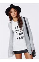Missguided Aria Edge To Edge Cardigan Grey - Lyst
