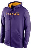 Nike Mens Lsu Tigers Warp Ko Full-zip Hoodie - Lyst