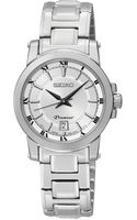 Seiko Womens Premier Stainless Steel Bracelet Watch 28mm Sxdf41 - Lyst
