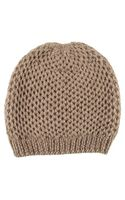 Black.co.uk Nutmeg Brown Cashmere Beanie Hat - Lyst