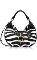 Diane Von Furstenberg Zebra Print Leather Sutra Hobo Bag - Lyst