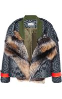 Preen By Thorton Bregazzi Falcon Jacket with Fox - Lyst