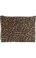 Golden Goose Deluxe Brand Toast Leopard Patterned Clutch - Lyst
