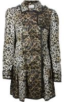 RED Valentino Leopard Print Coat - Lyst